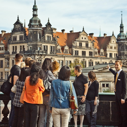 Semperoper y casco antiguo de Dresde: Visita guiada en alemán