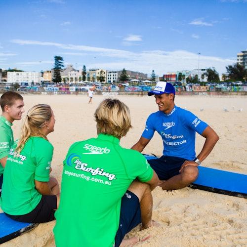 Clase de surf de 2 horas en la playa de Bondi