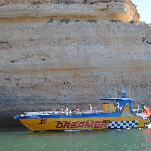 Caves and Dolphin Watching Cruise from Albufeira - Dreamer (Jet Boat)