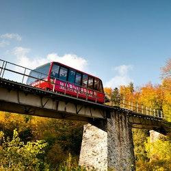 Funicular Ride: Interlaken - Harder Kulm