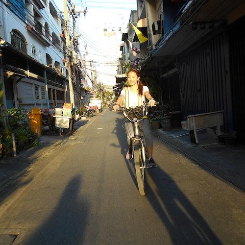 Bangkok de noche: Tour en bici