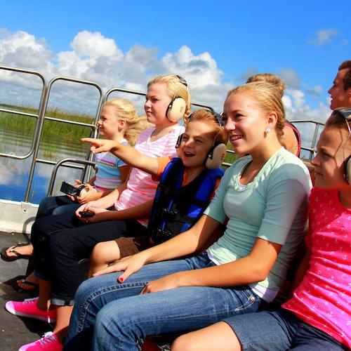 Drive-Thru Safari Park y Everglades en hidrodeslizador