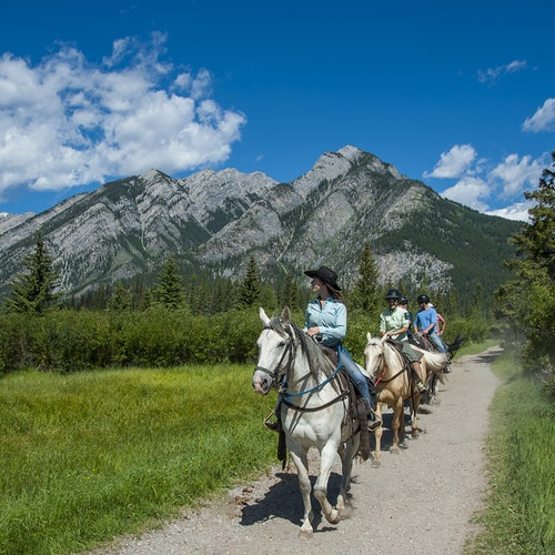 Bow River Horseback Ride from Banff