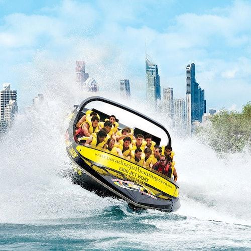 Gold Coast Jet Boating y Parasail Combo