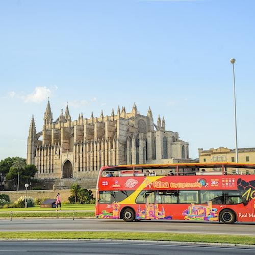 Bus y barco turístico por Mallorca