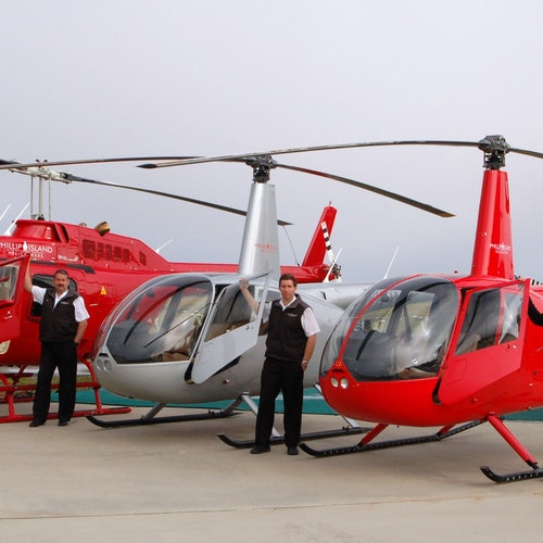 Vuelo en helicóptero de 8 minutos: Phillip Island Cape Woolamai o circuito del Gran Premio