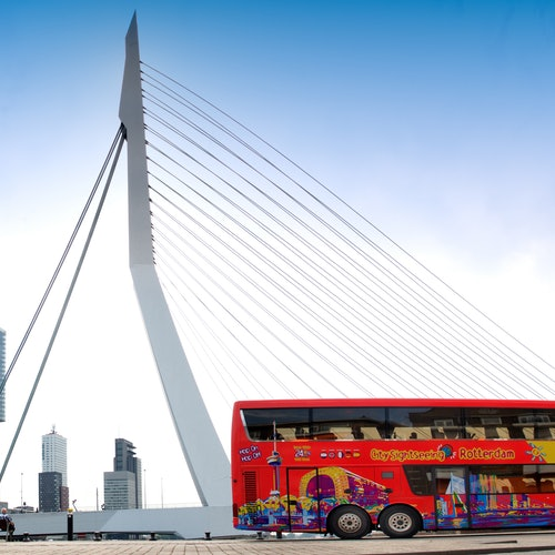 Bus turístico por Róterdam