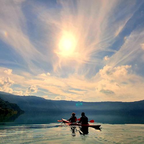 Tour en kayak por el lago Albano