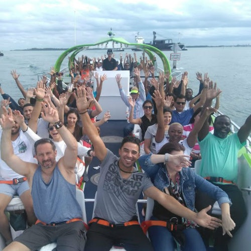 Tour en lancha motora Hurricane Thriller Miami