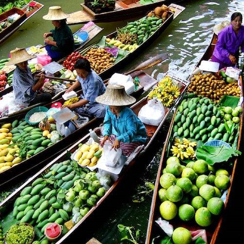 Mercado flotante de Damnoen: Tour guiado desde Bangkok