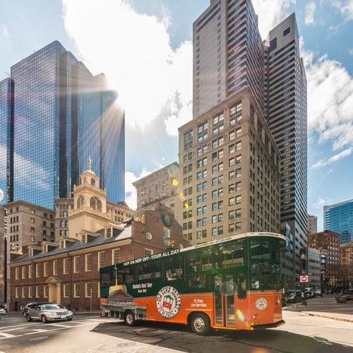 Old Town Trolley turístico en Boston
