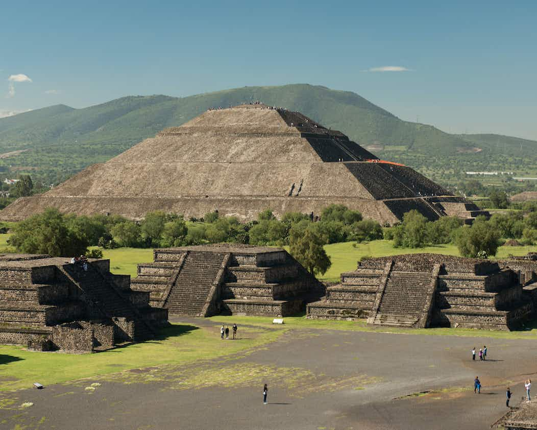 Teotihuacán, Mexico - UNESCO World Heritage Site - located NE of Mexico City.