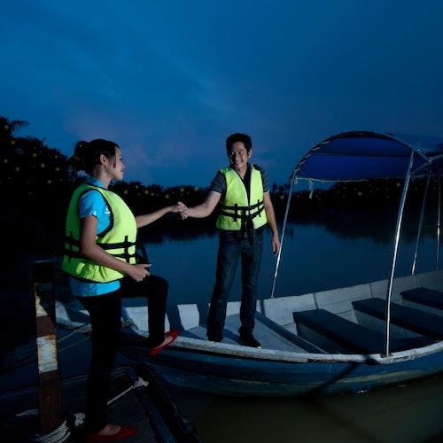 Crucero nocturno de observación de luciérnagas en Kuala Selangor