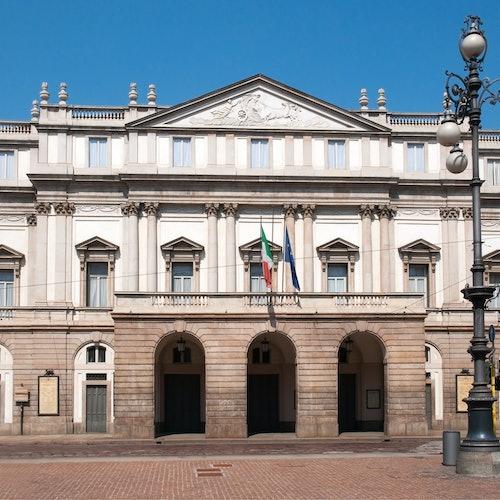 スカラ座劇場と博物館の写真