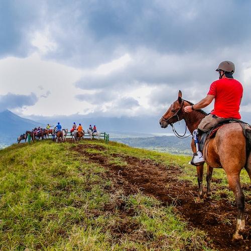 Paseo a caballo en Mistico Park: Los caballos de Paco