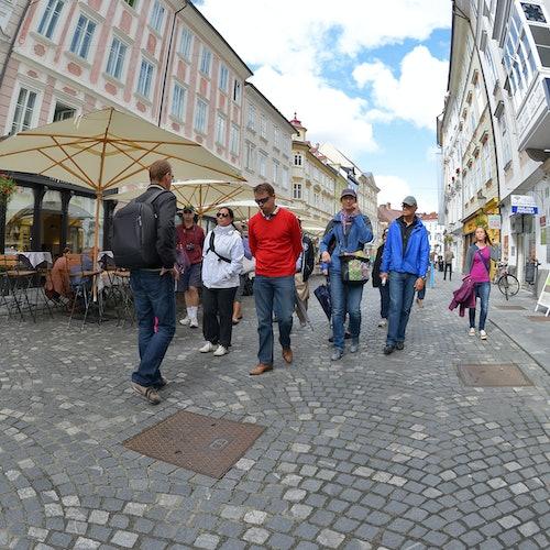 Casco histórico + Castillo de Liubliana: Visita guiada