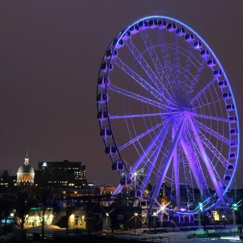 Scenic Montreal Night Tour with La Grande Roue de Montreal Admission