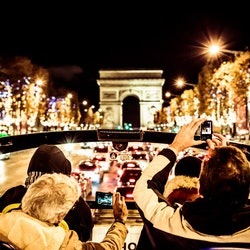 Christmas Lights in Paris: Open Top Bus Night Tour