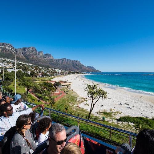 Bus turístico Ciudad del Cabo y Teleférico aéreo de Table Mountain