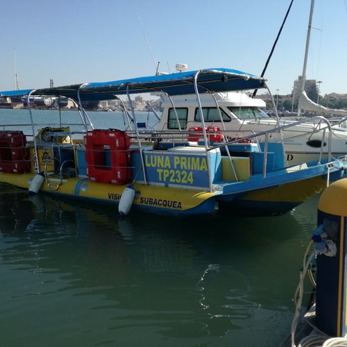 Tour en barco con fondo de cristal en Trapani
