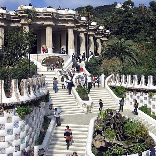 Park Güell: Acceso a la zona monumental