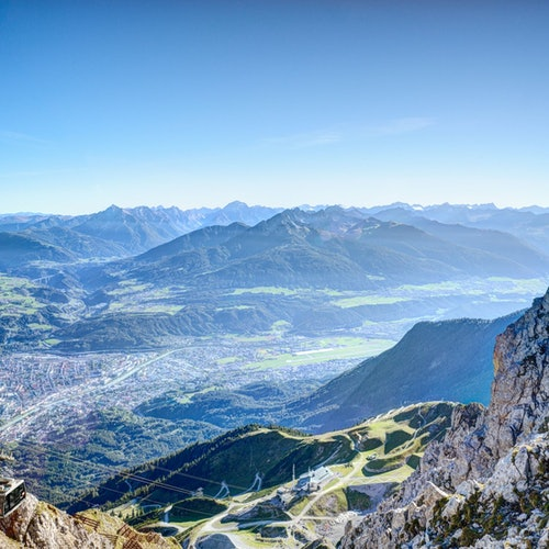 Teleférico de ida y vuelta: parte superior de Innsbruck