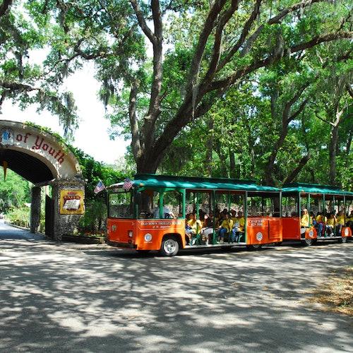 Old Town Trolley turístico en San Agustín