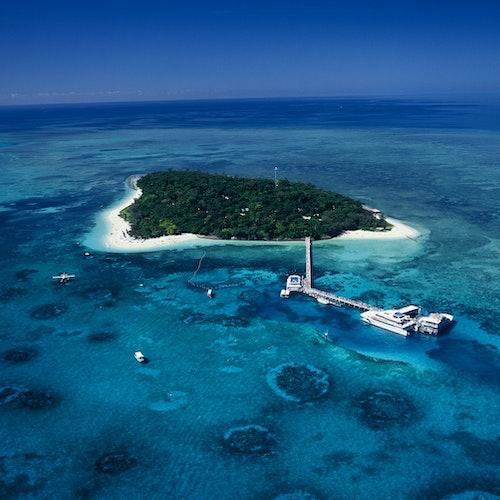 Aventura ecológica en Green Island: Crucero en catamarán desde Cairns